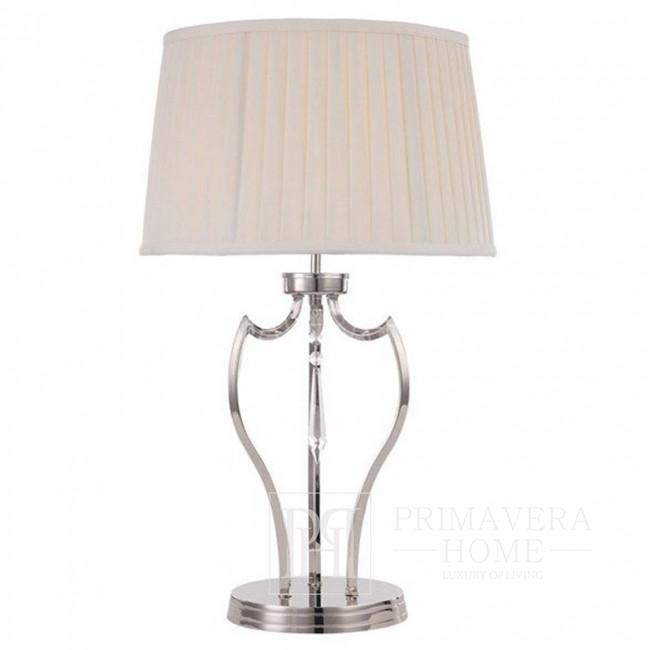 Podstawa do lampy stołowej srebrna - chrom, nikiel BOURBON