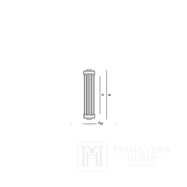 Fabiano brass wall socket