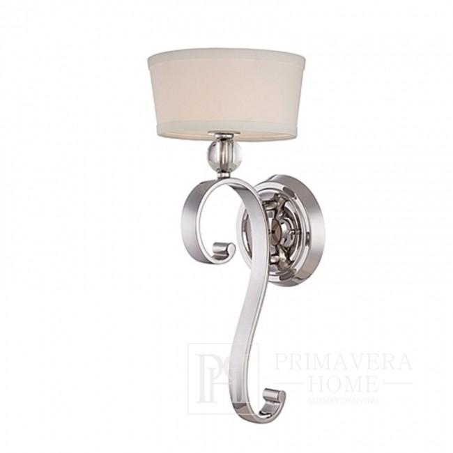 Kinkiet srebrny lampa ścienna - chrom nikiel HAMPTONS