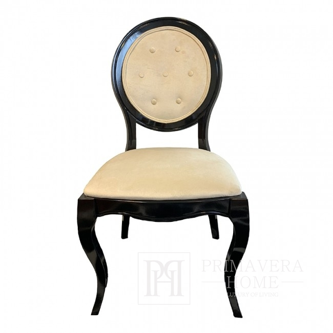 Upholstered wooden chair for the ELIZA living room
