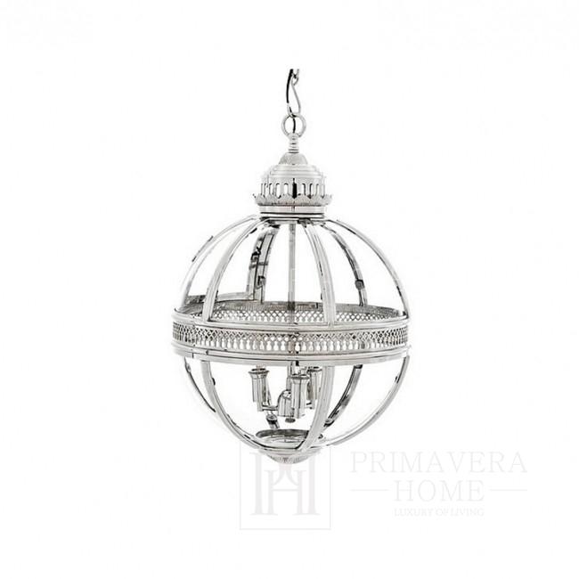 Lampa srebrna Lantern Residential M EICHHOLTZ poekspozycyjny OUTLET