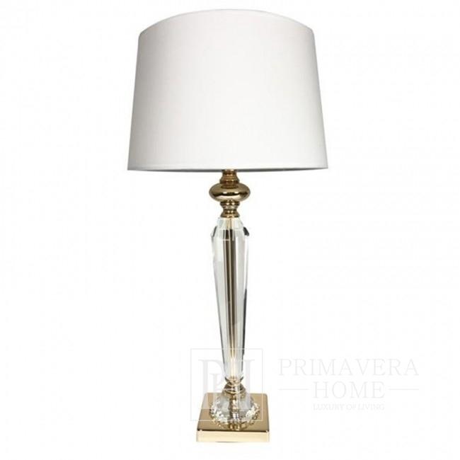 Kristall-Tischleuchte Gold-weiß TRINITY L 53cm