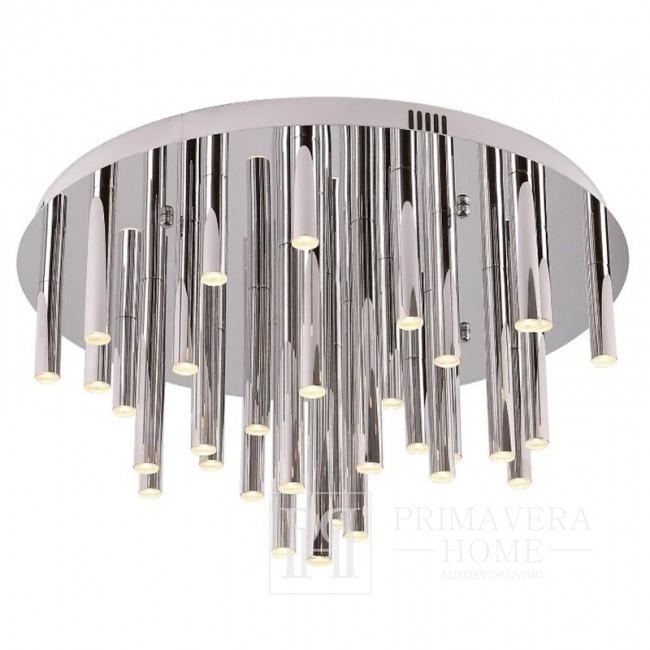 Lampa wisząca plafon chrom duży srebrny Ponsacco