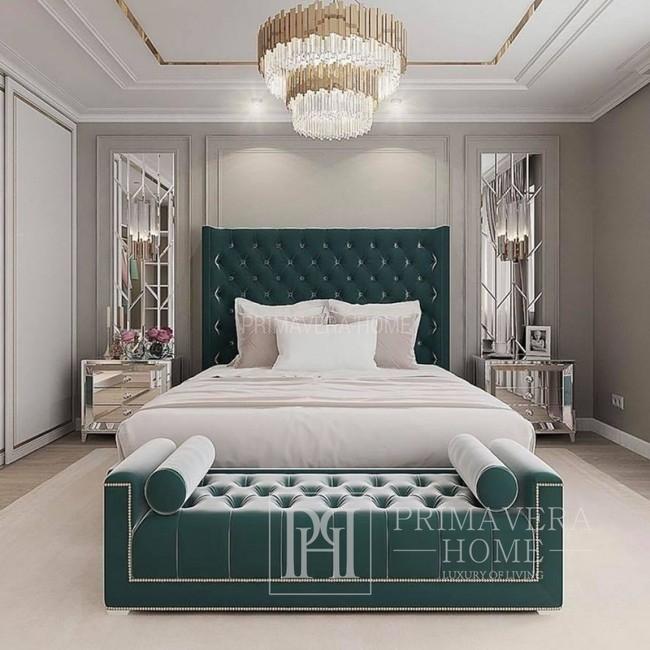 Łóżko w stylu glamour nowojorskim EUFORIA, różne rozmiary