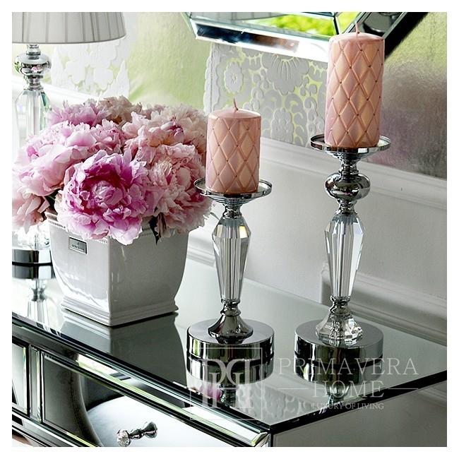 Kristall-Kerzenleuchter Silber FLAVIO O M