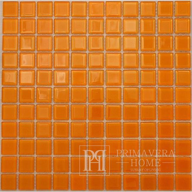 Glass mosaic Orange Penelope high gloss
