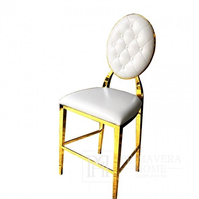 Hoker glamour MEDALION nowoczesny nowojorski 45x53x120 biały, złoty