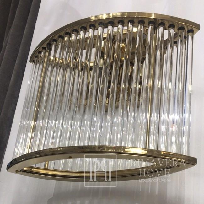 Glamour Kristall Wandleuchte modern MAJESTIC GOLD