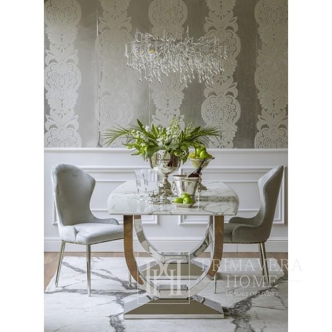 Żyrandol złoty lampa wisząca sufitowa glamour nowoczesna  RAIN L SILVER