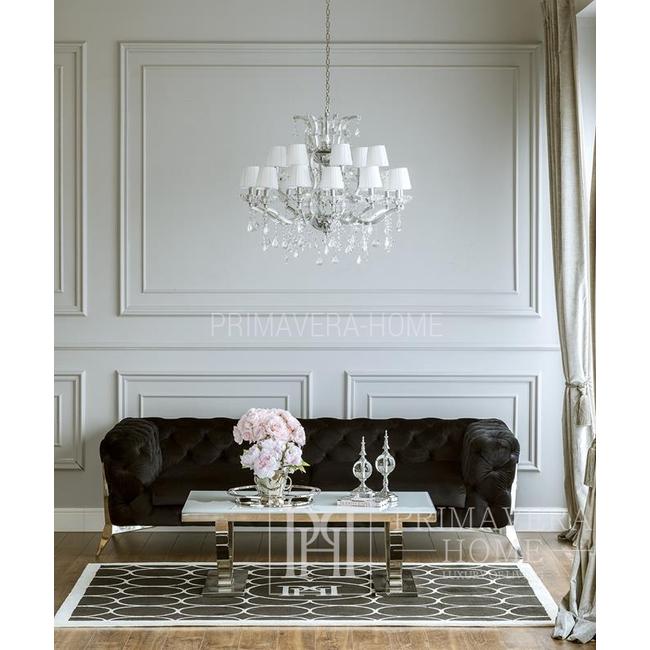 Glamour gepolstert modern DIVA SILBER 275x100