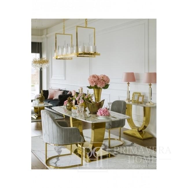 Modern glamour chandelier, rustic gold MODERN