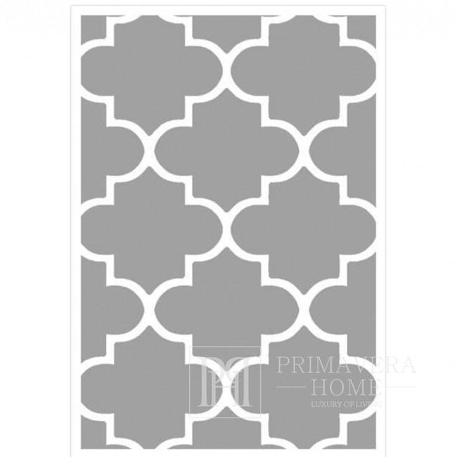 Dywan marokańska koniczyna nowoczesny szary MAROC