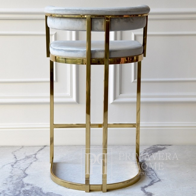 MARCO modern gold grey glamour barstool for dining room, bar, aisle