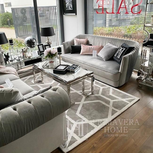 Nowojorski dywan geometryczny wzór nowoczesny nowojorski szary biały ELITE GREY