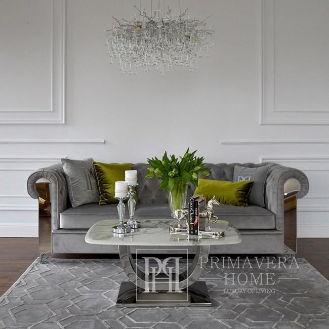 Cushion 50x50 with logo in Emerald grey fabric