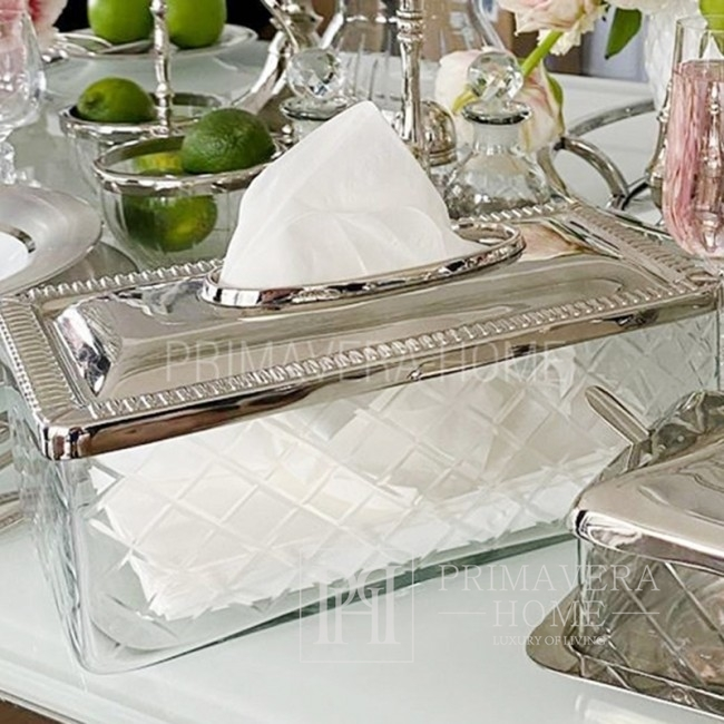 Handkerchief holder silver