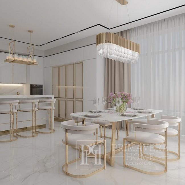 Glamor bar stool for dining room, bar, island golden beige MARCO