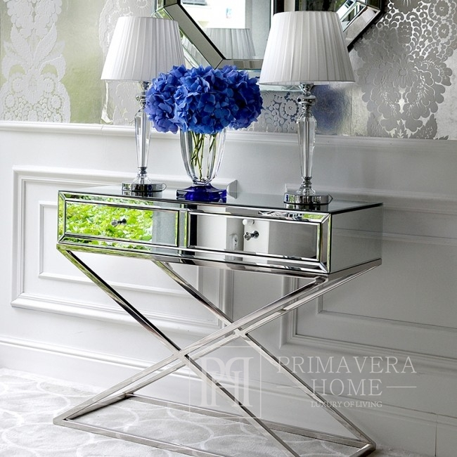 Crystal Table Lamp Glamour silver TRINITY M