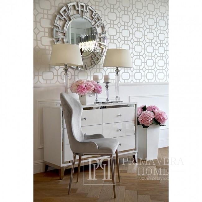 New Yorker Stil dekorative Spiegel Glamour Silber ELISE
