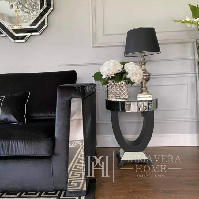 Stolik lustrzany nowojorski glamour do sypialni  MICHELLE S [OUTLET]