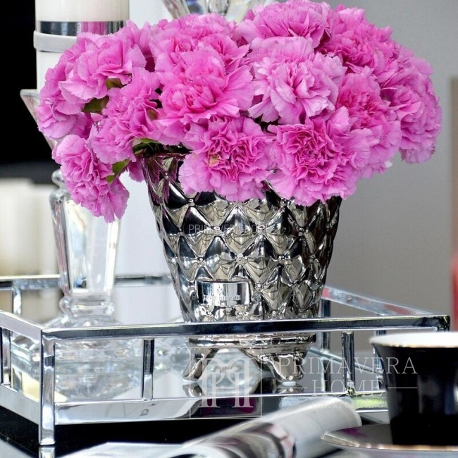 Keramik-Blumentopf Silber Kostbare Blume Lene Bjerre 20cm