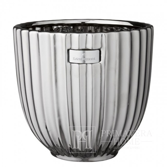 Donica glamour srebrna Lene Bjerre 20 cm