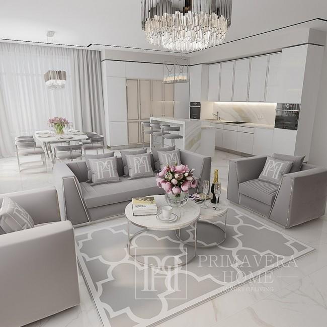New York Glamour Polstersessel für MONTE CARLO Wohnzimmer 90x120x70cm