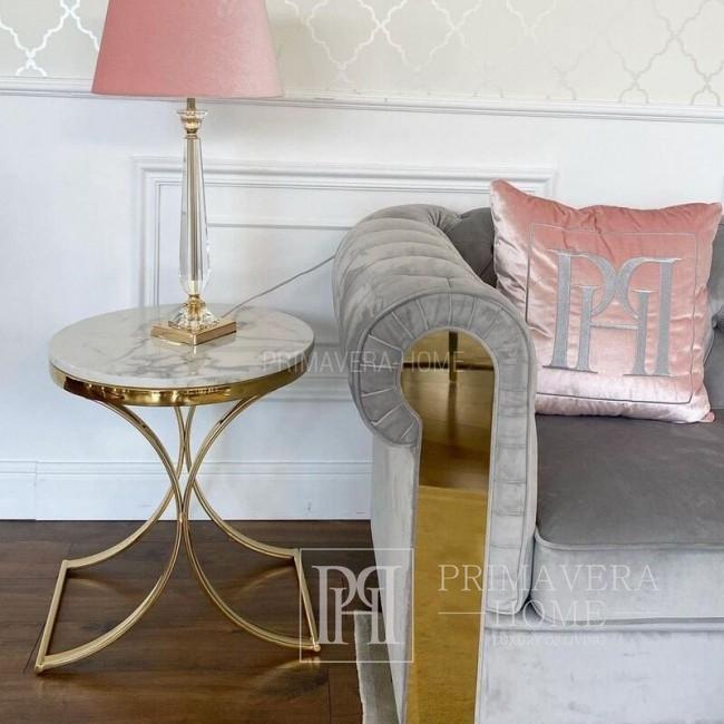 Beistelltisch im Glamour-Stil, Nachttisch ALICE GOLD