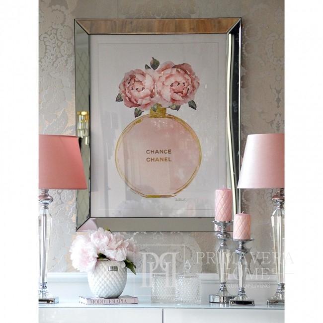 Obraz w lustrzanej ramie nowoczesny stylowy do salonu