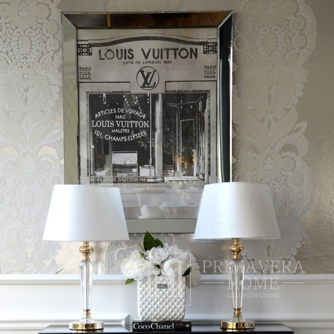 A luxurious picture in a mirror frame in the New York style of Louis Vuitton 90x70