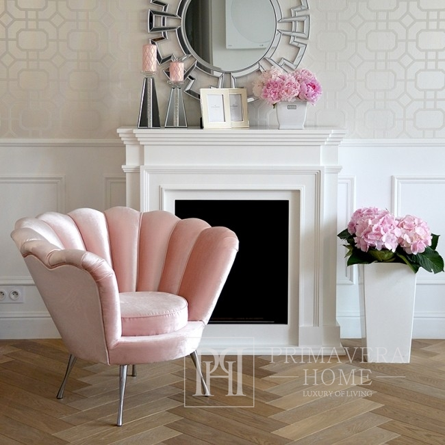 New York glamour armchair for hallway bedroom Rose SHELL