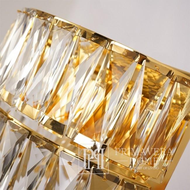 Crystal glamor wall lamp New York style gold MONACO