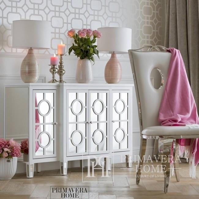 New York Mirror Cellar modern white glamour style OSKAR L