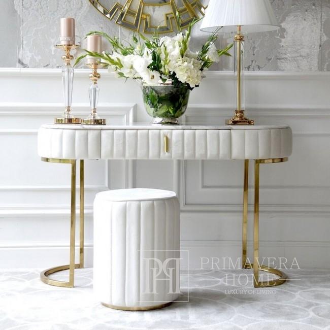 Glamour-konsole silber modern klassisch weiß für den flur, wohnzimmer BELLA GOLD