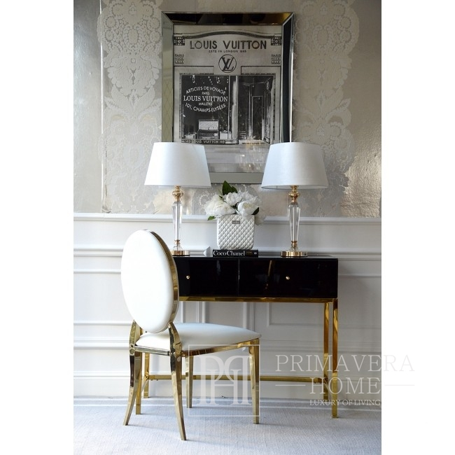 Glamour console, New York dressing table black gold FRANCO GOLD