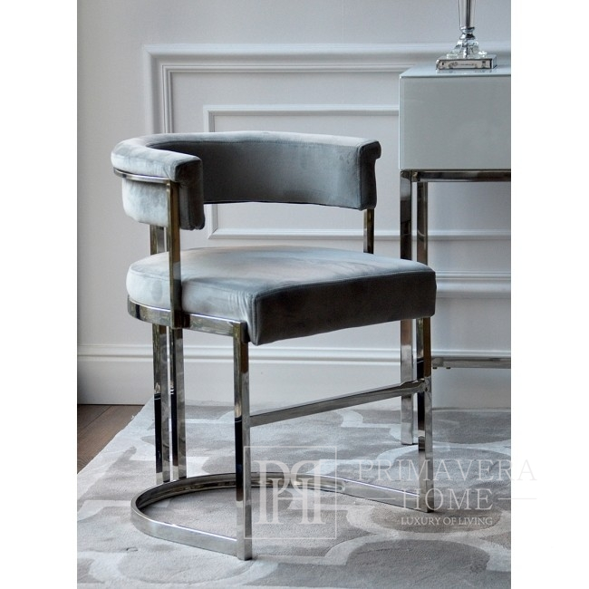 MARCO silver glamor chair for the living room and dining room - gray