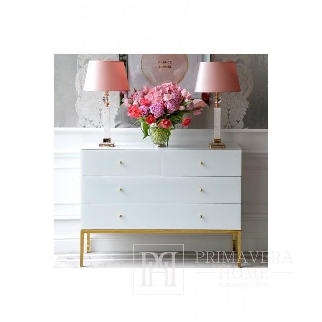 Tischlampe im Glamour-Stil mit goldenem Kugelmarmor MARMO