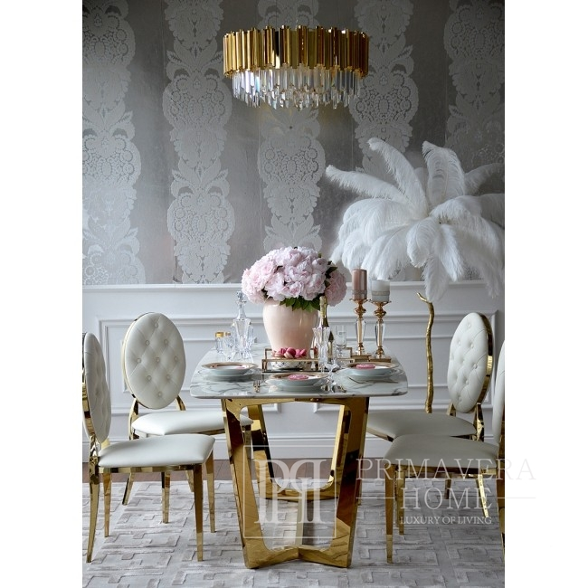 New Yorker Glamour-Kristall-Kronleuchter EMPIRE GOLD M