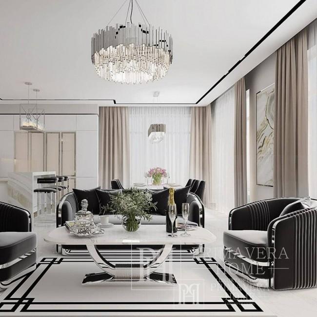 Moderner Kaffeetisch für Wohnzimmer mit weißer Marmorplatte gold ART DECO