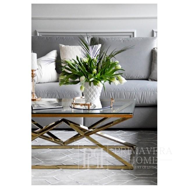 Couchtisch Glamour modern New York Stahl Gold Glas CONRAD