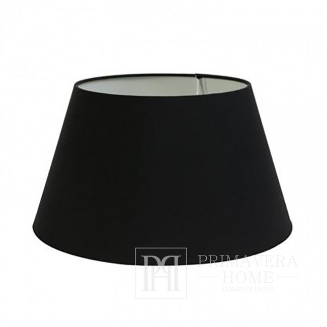 Abażur okrągły duży czarny tkanina drum VIVIEN 45 cm