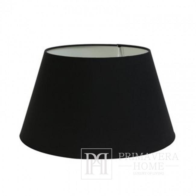Abażur w stylu glamour czarny stylowy 20 cm