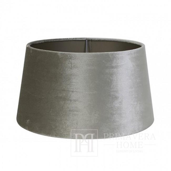 Runder Glamour Silber Samt Lampenschirm EDITH
