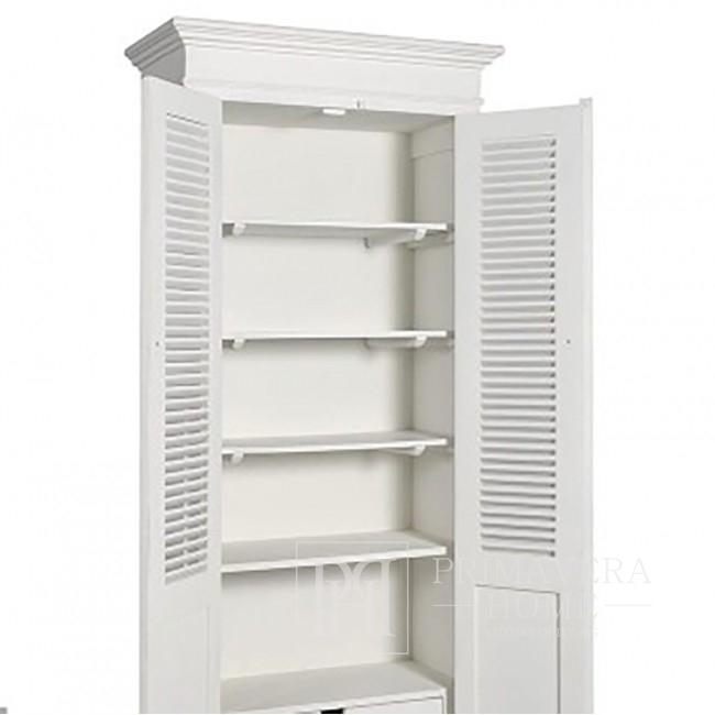 Biała szafa w stylu prowansalskim HAMPTONS