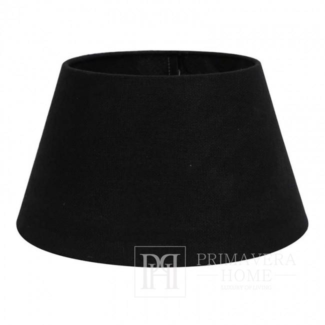 Czarny abażur duży okrągły drum w stylu glamour 45 cm