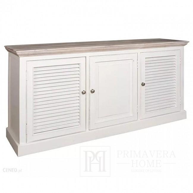 Komoda 3 drzwiowa biała styl prowansaldzki hampton Bristol