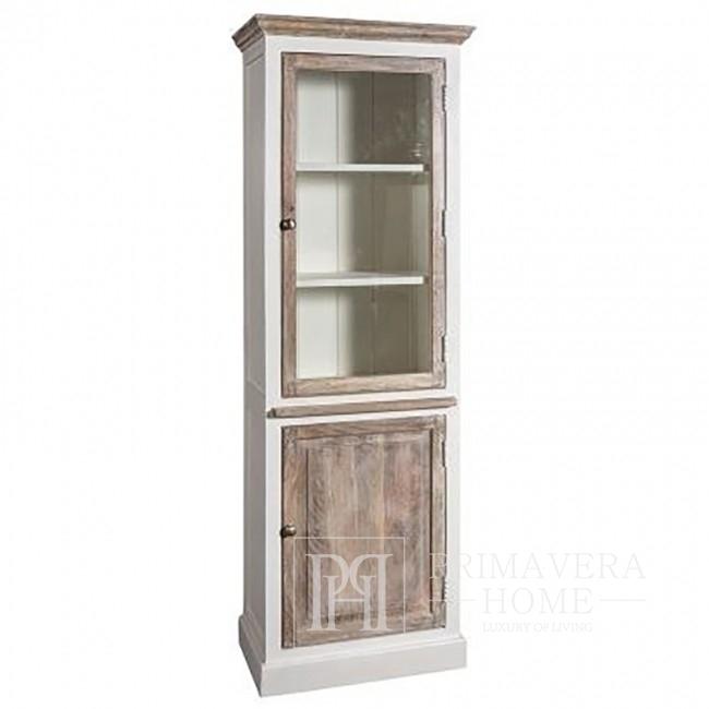 Regał witryna drewniana w stylu prowansalskim HAMPTON