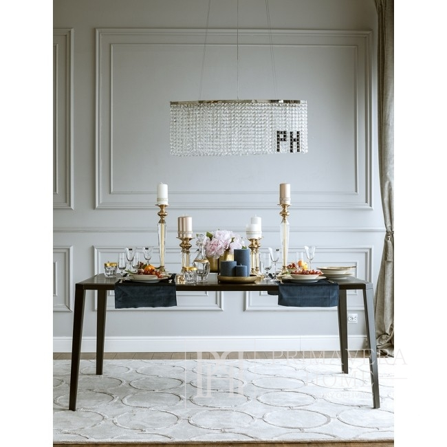Stół glamour nowoczesny z drewna dębowego czarny elegancki ciemny Concord