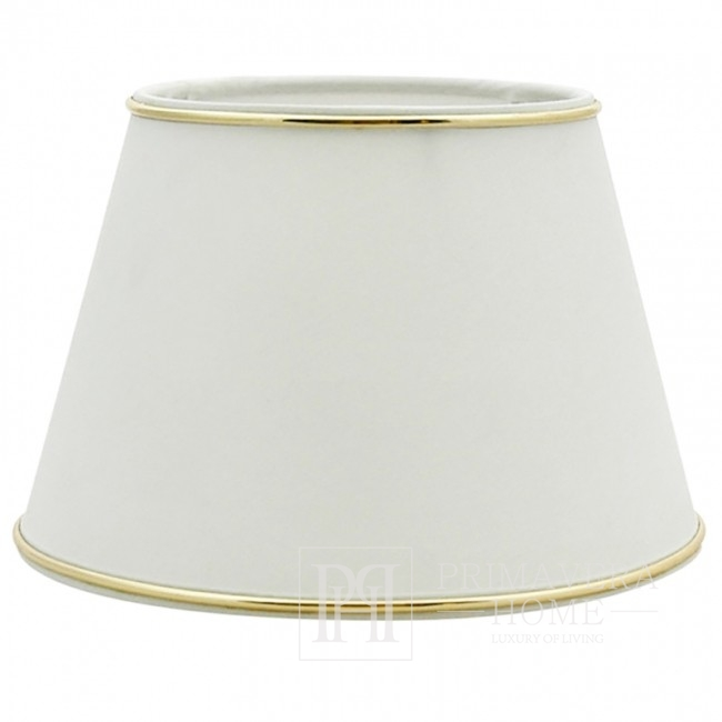 White lampshade with silver trimming M