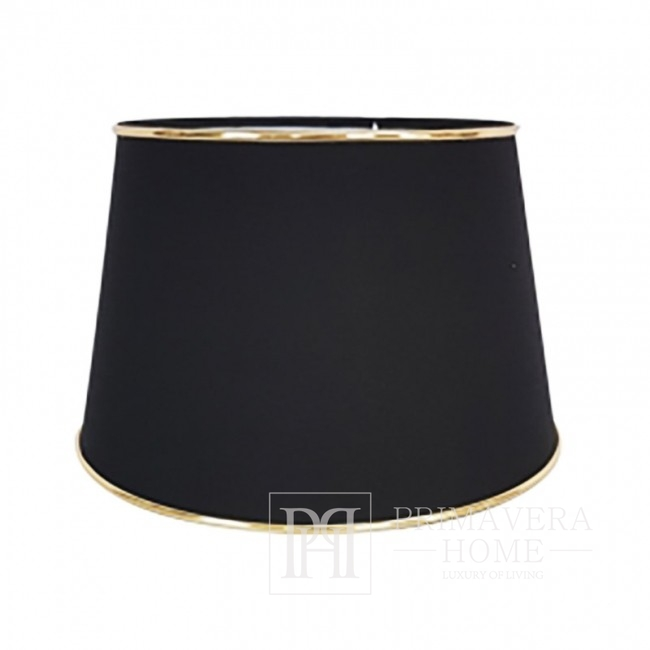 Black lampshade with silver trimming M